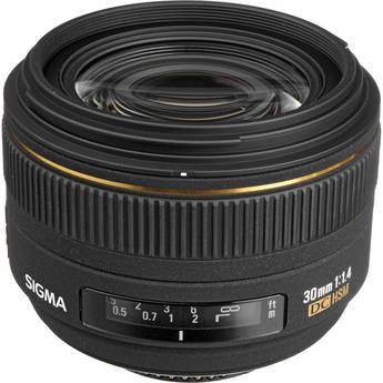 Sigma 30mm f/1.4 EX DC HSM Autofocus Lens for Nikon Digital