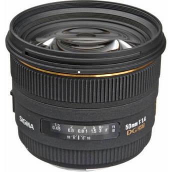 Sigma Normal 50mm f/1.4 EX DG HSM Autofocus Lens for Canon SLR