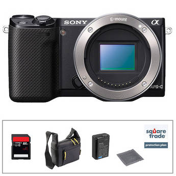 Sony Alpha NEX-5R Mirrorless Digital Camera Body Essential Accessory Kit
