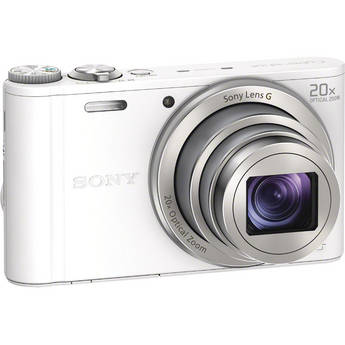 Sony Cyber-shot DSC-WX300 Digital Camera (White)