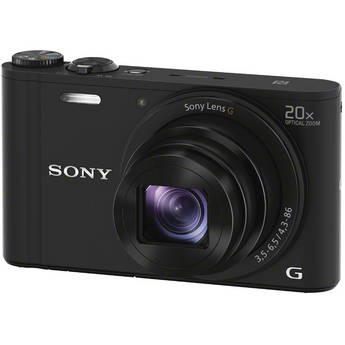Sony Cyber-shot DSC-WX350 Digital Camera (Black)