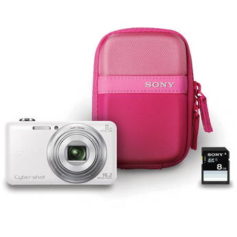 Sony Cyber-shot DSC-WX80 Digital Camera Bundle (White)