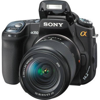 Sony Alpha DSLR-A350 SLR Digtial Camera with Sony 18-70mm Lens
