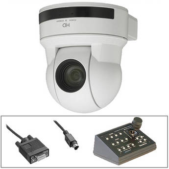 Sony EVI-100V PTZ Cam w/Telemetrics Controller & RS-232 Cable Kit (White)