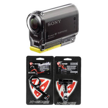 Sony HDR-AS30V Action Cam with K-Edge Bicycle Mounts