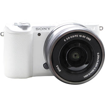 Sony Alpha a5100 Mirrorless Digital Camera with 16-50mm Lens (White)