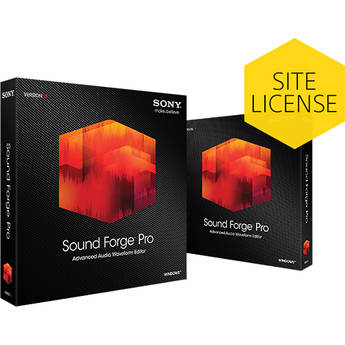 Sony Sound Forge Pro 11 - Audio Waveform Editor (100-499 Tier Site-Licenses, Boxed)