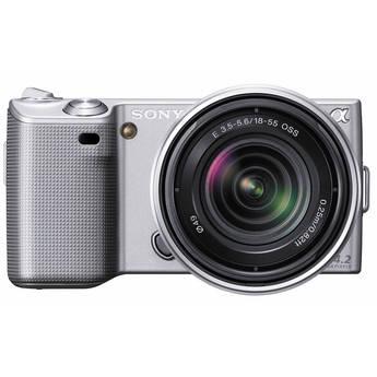 Sony Alpha NEX-5 Interchangeable Lens Digital Camera w/18-55mm Lens (Silver)