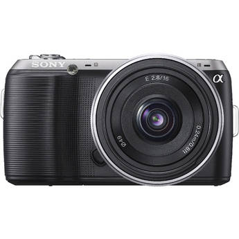 Sony Alpha NEX-C3 Digital Camera with 16mm Wide-Angle Lens (Black)