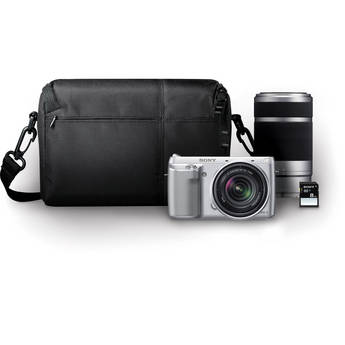 Sony Alpha NEX-F3 Mirrorless Digital Camera with 18-55mm f/3.5-5.6 and 55-210mm f/4.5-6.3 Lenses Bundle (Silver)