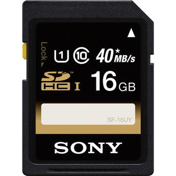 Sony 16GB SDHC Class 10 UHS-1 Memory Card