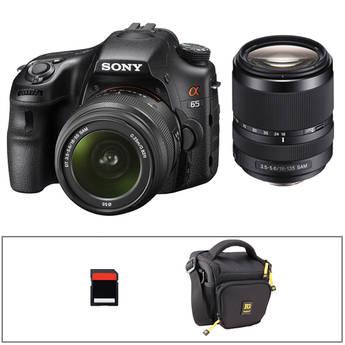 Sony Alpha SLT-A65 Digital SLR Camera Kit with 18-55mm and 18-135mm Lenses