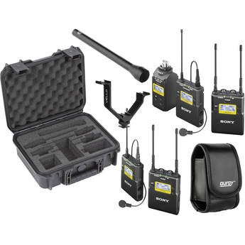 Sony Sony UWP-D Integrated Digital Dual Combo Wireless ENG Basic Kit (UHF Channels 30/36 and 38/41: 566 to 608 and 614 to 638 MHz)
