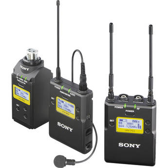 Sony UWP-D16 Integrated Digital Plug-on & Lavalier Combo Wireless Microphone System (UHF Channels 30/36 or 38/41: 566 to 608 or 614 to 638 MHz)