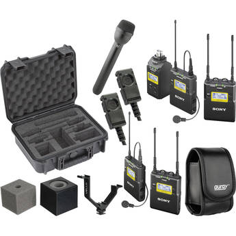 Sony UWP-D16 Integrated Digital ENG Dual Combo Wireless Deluxe Kit (UHF Channel 30/36 and 38/41: 566 to 608 and 614 to 638 MHz)