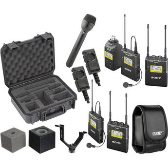 Sony UWP-D16 Integrated Digital ENG Dual Combo Wireless Deluxe Kit (UHF Channel 42/51: 638 to 698 MHz)