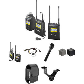 Sony UWP-D Integrated Digital ENG Dual Combo Wireless Deluxe Kit (UHF Channels 14/25: 470 to 542 MHz)