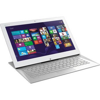 """Sony VAIO Duo 13 SVD13215PXW 13.3"""" Multi-Touch Ultrabook Computer (Carbon White)"""