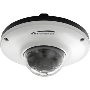 Speco Technologies O2MD1 Full HD 1080p 2MP IR Indoor/Outdoor PoE Miniature Dome IP Camera with 3.7mm Fixed Lens (White)
