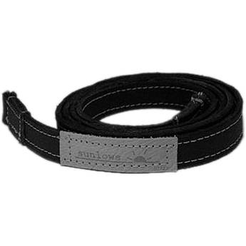 "Sunlows Leather Camera Strap with Ring & Lug Protector (41.3"", Black Ends)"
