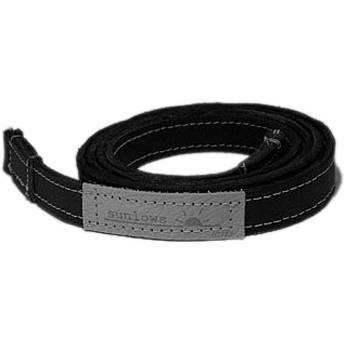 "Sunlows Leather Camera Strap with Ring (45.3"", Black Ends)"