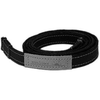"Sunlows Leather Camera Strap with Ring & Lug Protector (45.3"", Black Ends)"
