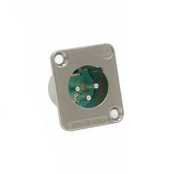 Switchcraft DE Series 7-Pin XLR Male Panel Mount Connector (Nickel Finish, Silver Contacts)