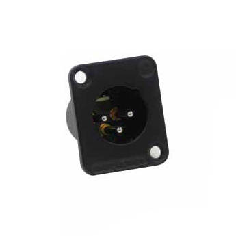 Switchcraft DE Series 7-Pin XLR Male Panel Mount Connector (Black Finish, Silver Contacts)
