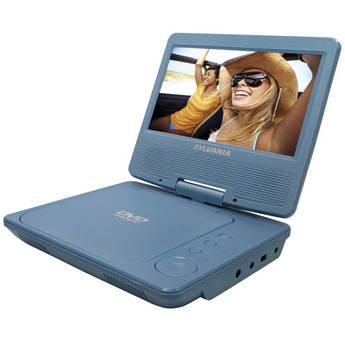 """Sylvania SDVD7014 7"""" Portable DVD Player (Blue)"""