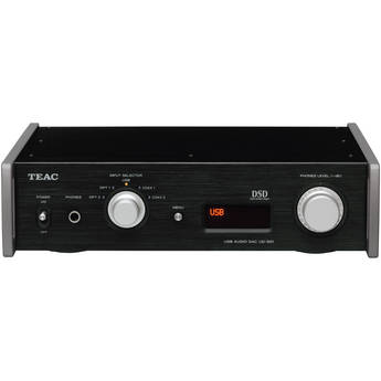 Teac UD-501-B Dual-Monaural D/A Converter with USB Streaming (Black)