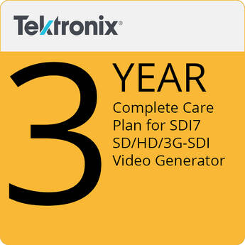 Tektronix 3-Year Complete Care Plan for SDI7 SD/HD/3G-SDI Video Generator