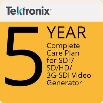 Tektronix 5-Year Complete Care Plan for SDI7 SD/HD/3G-SDI Video Generator