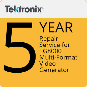 Tektronix 5-Year Repair Service For TG8000 Multi-Format Video Generator