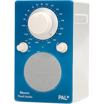 Tivoli PAL BT Bluetooth Portable Radio (Glossy Blue / White)