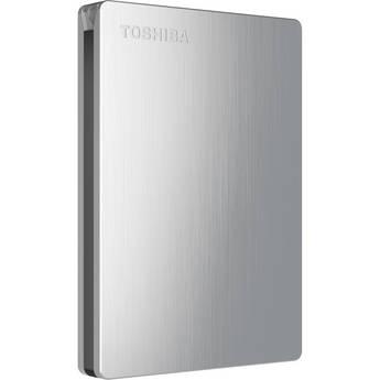 Toshiba Canvio Slim II 1TB Portable External Hard Drive for Mac (Silver)