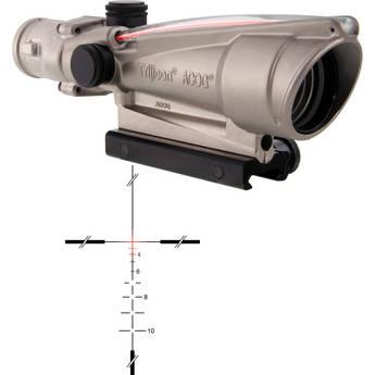 Trijicon 3.5x35 ACOG Dual-Illuminated Riflescope (Nickel, Red Crosshair)