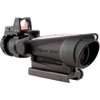 Trijicon TA11F-G ACOG 3.5x35 Riflescope & RMO6 Red Dot LED Sight (Matte Black)