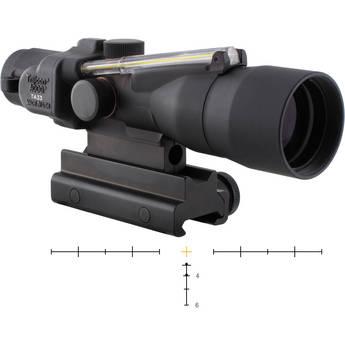 Trijicon 3x30 ACOG Dual-Illuminated Riflescope (Black, Amber Crosshair)
