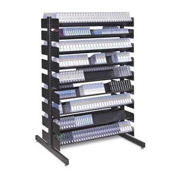 "Turtle Single-Sided Multi-Media Rack with Eight Shelves for 240 LTO-Size Tapes (54"" High)"