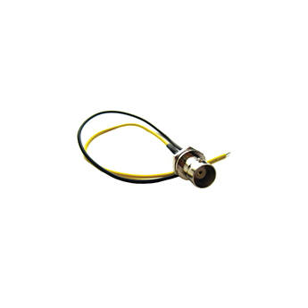 "VideoComm Technologies 22-Gauge Yellow-Black Stripped & Tinned Wire with BNC Female Bulkhead Mount (7"")"