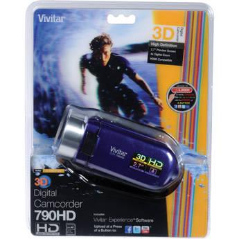 Vivitar DVR 790HD 3D Digital Video Recorder (Grape)