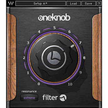 Waves OneKnob Filter - Sweepable Filter Plug-In (Native/SoundGrid, Download)