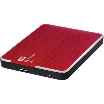 WD 1TB My Passport Ultra Portable Hard Drive (Red)