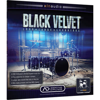 XLN Audio Black Velvet ADpak - Expansion Pack for Addictive Drums