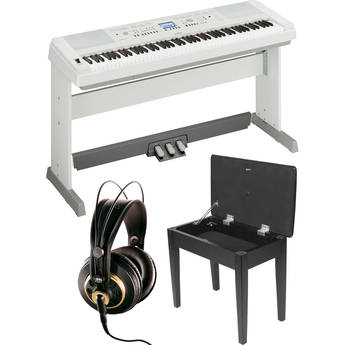 yamaha dgx 650 portablegrand piano expansion kit white b h. Black Bedroom Furniture Sets. Home Design Ideas
