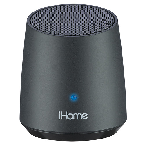 Ihome ibt69 bluetooth rechargeable mini speaker black for Ihome speaker