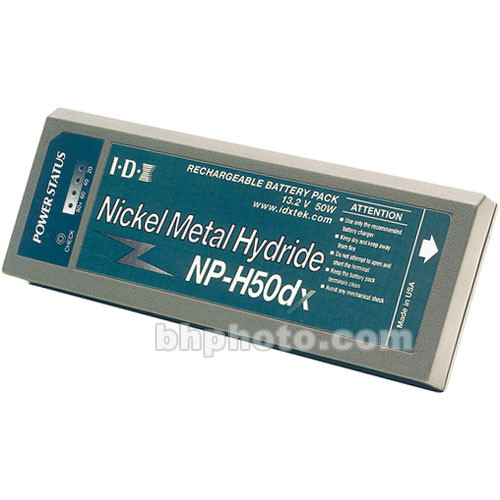 Nickel Metal Hydride Battery >> Idx System Technology Np H50dx Np 1 Style Nickel Metal Hydride Battery With 13 2v 50 Wh Includes Led Status Indicator