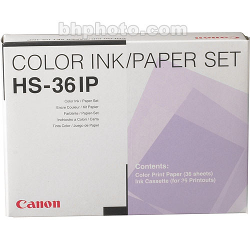 Canon HS-36IP Standard Print Pack for Canon CD-300 Printer (36 Sheets with  Ribbon)