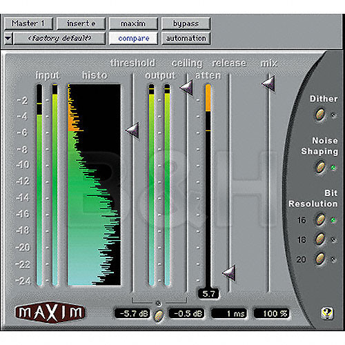 Digidesign Maxim - Peak Limiter Plug-In for Applications Supporting  Digidesign's Pro Tools HD and LE Systems - Mac OS X and Windows XP