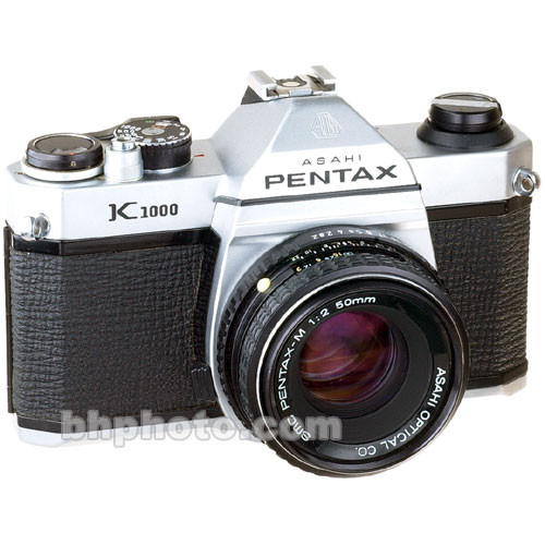 Used pentax k1000 35mm slr manual focus camera with 50mm f/2.